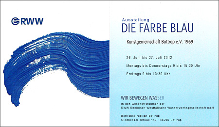 Ausstellung - DIE FARBE BLAU