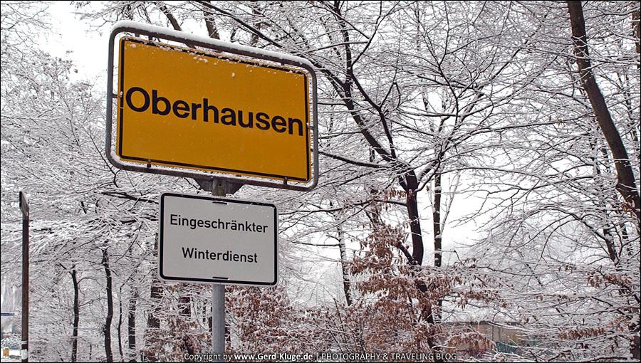 Oberhausen - eingeschränkter Winterdienst