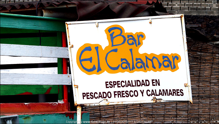 "La Palma :: Tag 16 | El Remo - Wegweiser zum Kiosco ""El Calamar"""