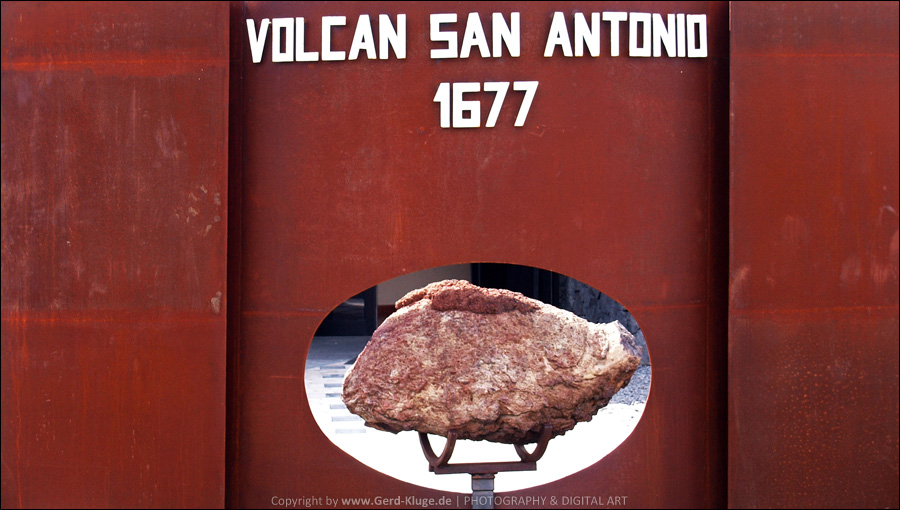 La Palma :: Tag 20 | Eingangsschild am Centro de Visitantes Volcán de San Antonio
