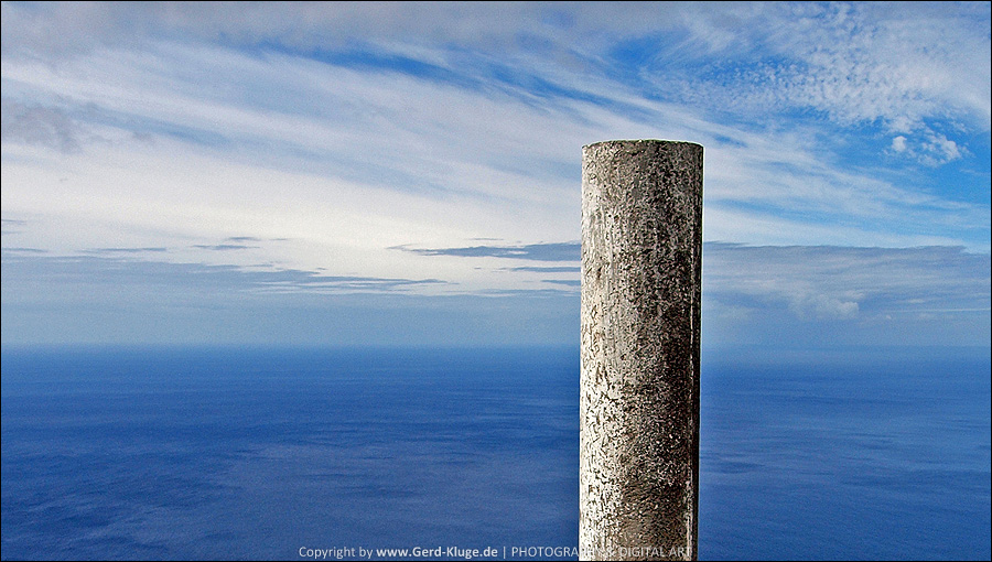 La Palma :: Tag 20 | Grenzstein am Kraterrand des Volcán de San Antonio