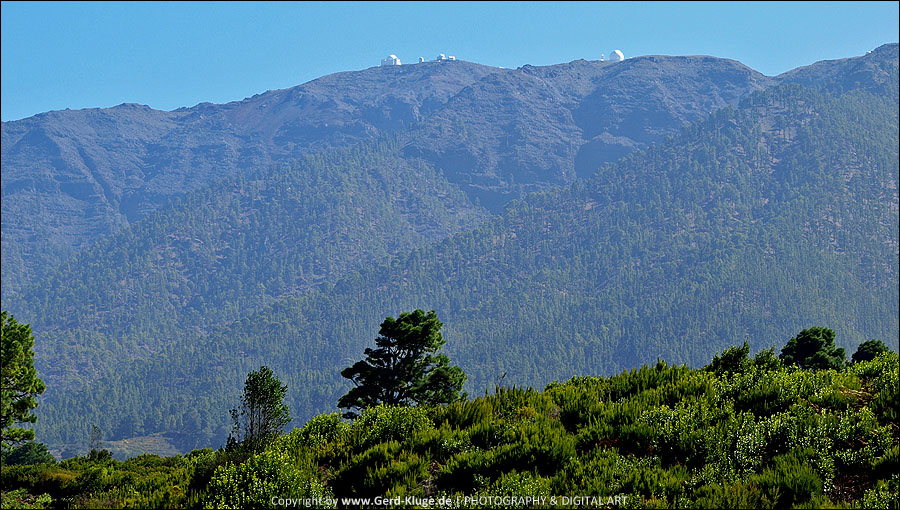 La Palma :: Tag 25   Barranco de La Zarza - Blick auf die Sternenwarten