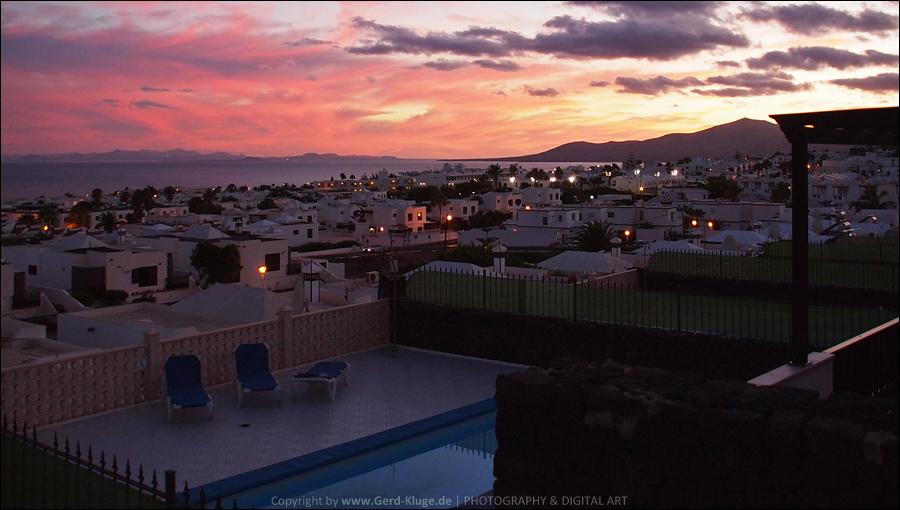 Lanzarote :: Tag 20   Puerto del Carmen - Abenddämmerung