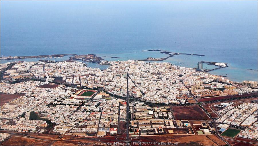 Lanzarote Tag 21 | Arrecife - Luftaufnahme