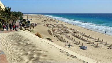 Leichte Sandverwehung | Playa de la Cebada - Morro Jable