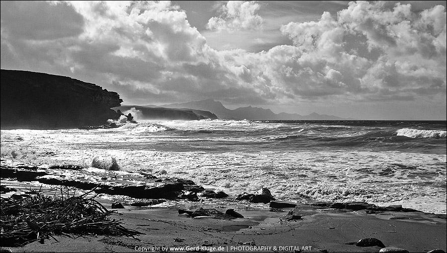 Entfärbtes Fuertenventura | Die schroffe Westküste - Playa de La Pared