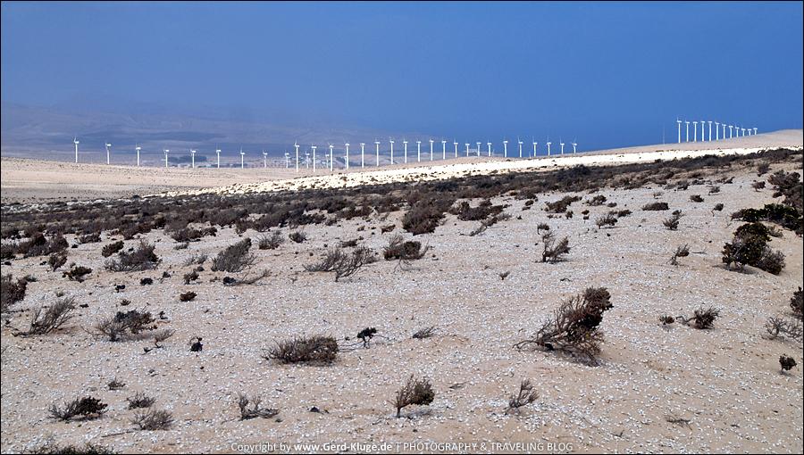 Vorbei am Windpark