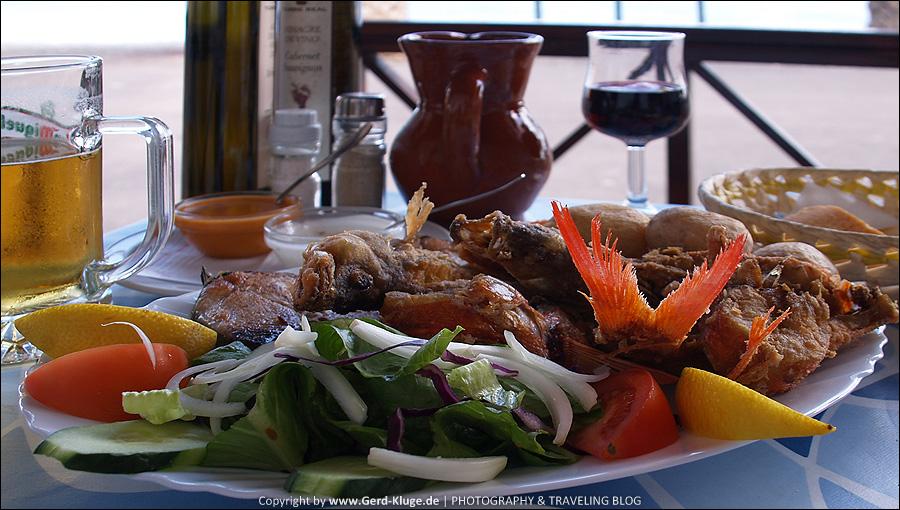 Fuerteventura :: Tag 16   Dünen und frittierte Fischplatte