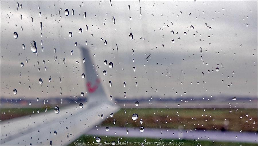 Fliegen in Corona-Zeiten   Start bei Regenwetter